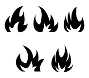 Icon fire. On white background Royalty Free Stock Images