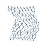 Icon of Fishing net. Thin line design. Vector illustration stock illustration