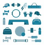 Icon fitness accessories Royalty Free Stock Image