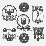Icon fitness club Stock Photo