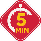 Icon of five minutes Royalty Free Stock Images