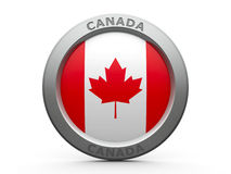 Icon - Flag of Canada Stock Photography