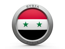 Icon - Flag of Syria Royalty Free Stock Photography