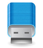 Icon for flash drive Stock Photography