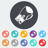 Icon flat boxing gloves. Boxing gloves. Single flat icon on the circle. Vector illustration Royalty Free Stock Photos