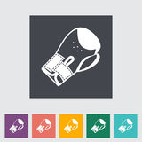 Icon flat boxing gloves. Vector illustration Stock Images