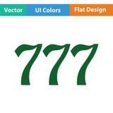 777 icon. Flat color design. Vector illustration vector illustration