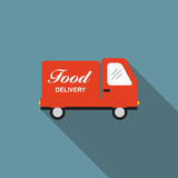 Icon with Flat Graphics Element of Food Delivery Royalty Free Stock Photo