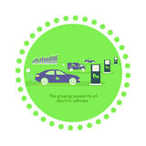 Icon Flat Growing Popularity Electric Vehicles Royalty Free Stock Image