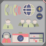 Icon flat pen 4. Flat icon set for phone, pc, sate Royalty Free Stock Images