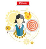 Icon Flat Style Concept Efficiency Royalty Free Stock Photo