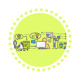 Icon Flat Style 3d Development Stock Image