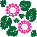 Icon flower and leaf. Vector background Stock Images