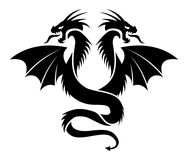 Icon of flying two headed dragon. vector  Stock Photo