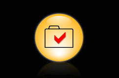 Icon folder. 3d icon folder documents red signed Royalty Free Stock Images