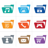 Icon folder stock illustration