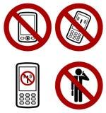 Icon. Forbidden phone icon -  web design element Stock Images