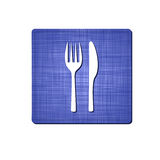 Icon of a fork and spoon Royalty Free Stock Photos