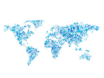 Icon in form world map Stock Images