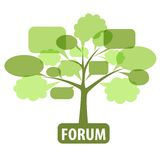 Icon for forum. Conceptual icon of forum or chat: Tree of bubbles