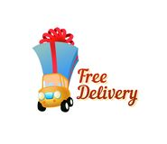 Icon Free Delivery - Vector Illustration Royalty Free Stock Photography