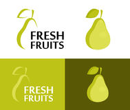Icon of Fresh Pear Royalty Free Stock Photography