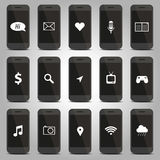 Icon function of mobile phone pattern Royalty Free Stock Image