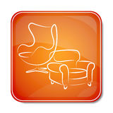 Icon for furniture Stock Image