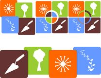 Icon gardens. In four versions for further use vector illustration