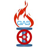 Icon gas industry-2 Stock Photography