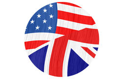 Icon for GB and USA Royalty Free Stock Photos