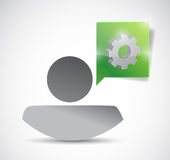 Icon and gear. illustration design Stock Photography