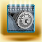 Icon with gear Stock Images