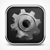 Icon with gear on white Stock Photo