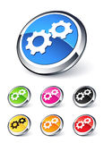 Icon gears. Clipart illustration design Royalty Free Stock Image