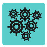 Icon with gears Stock Photography