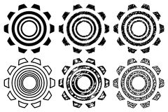 Icon gearwheel, set,. Icon gearwheel, Vector black gears icons set Royalty Free Stock Image