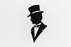 Icon of the gentleman Stock Photos