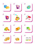 Icon , gift Stock Photography