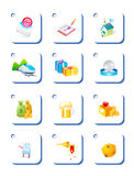 Icon , gift Royalty Free Stock Images