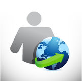 Icon globe avatar illustration design Royalty Free Stock Images