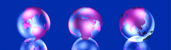 Icon Globes Stock Images