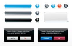 Icon glossy button set Stock Photo