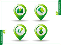 Icon go green Royalty Free Stock Photography