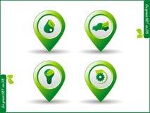 Icon go green Stock Photos