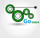 Icon go green. Royalty Free Stock Image