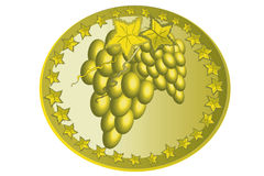 Icon with grape. Royalty Free Stock Photo
