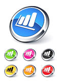 Icon graph. Design clipart illustration Stock Photography