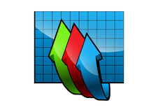 Icon graph Stock Images