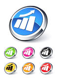 Icon graph up Stock Photos